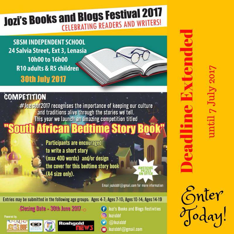 """Jozi's Books and Blogs Festival 2017 """"Celebrating Readers and Writers"""""""