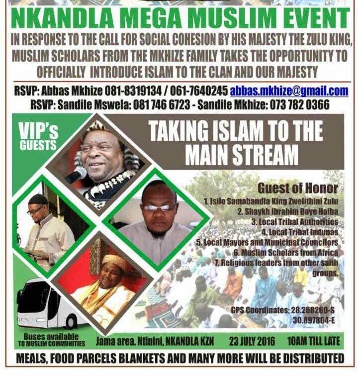 Islam going mainstream in Nkandla