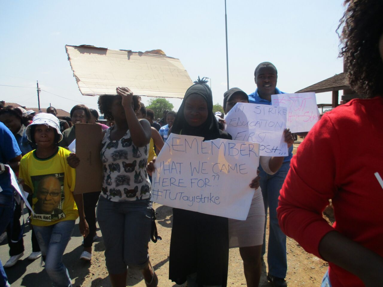 Go back to your classes – Writes TUT student, Hawa Mayere